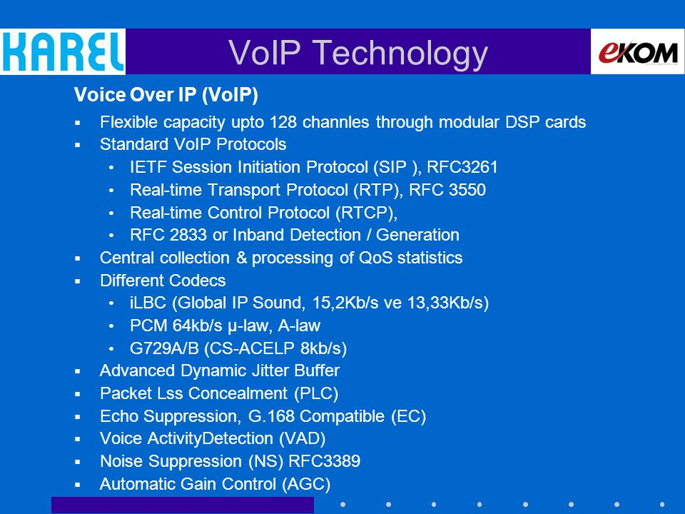 VoIP Technology Voice Over IP (VoIP)