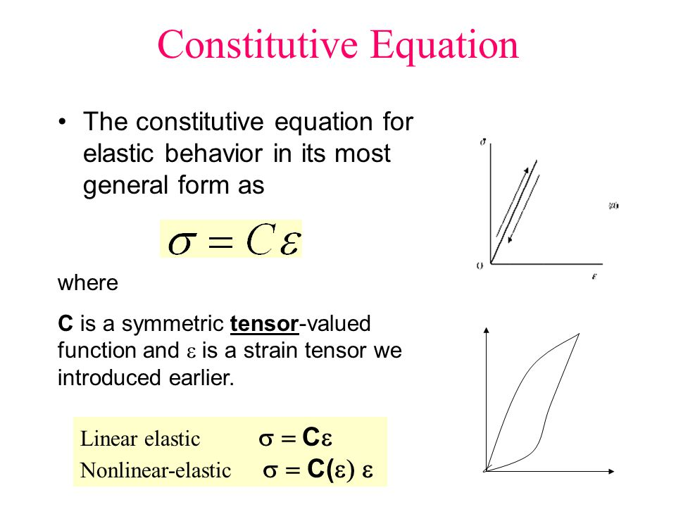 Constitutive Equation