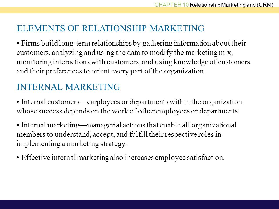 relationship marketing the strategy continuum