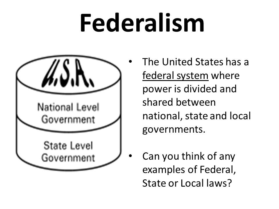 a brief note on federal and state Federalism in the united states is the evolving relationship between state governments and the federal government of the united states american government has evolved from a system of dual federalism to one of associative federalism.