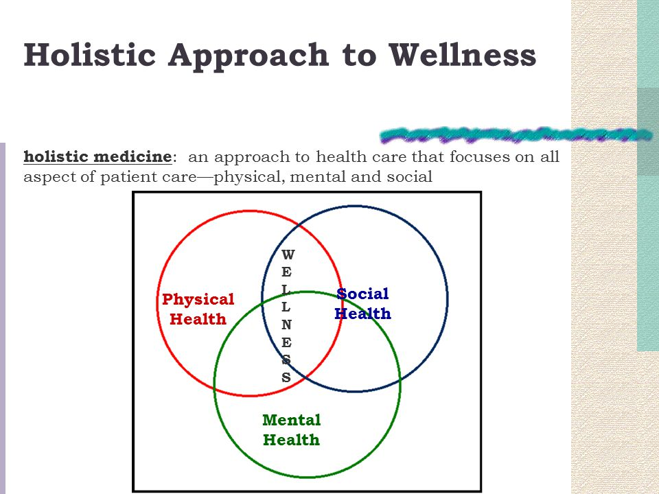 holistic approach to care The holistic approach also relies on western medications and surgical procedures  massage therapy, chiropractic care,  the holistic approach to wellness.