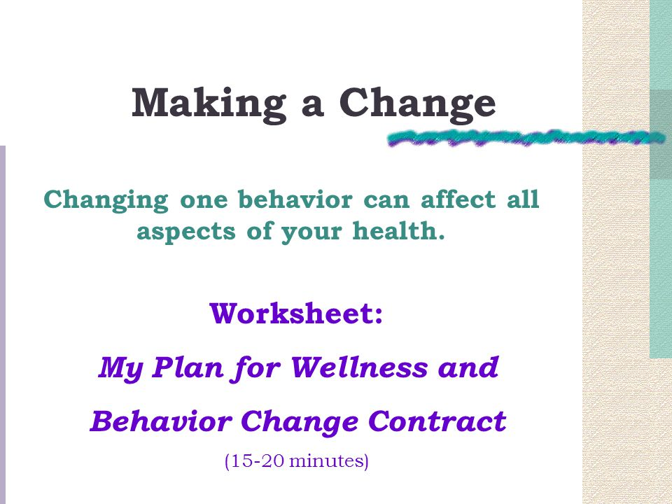 Chapter 1 Making Wellness a Lifestyle ppt download – Wellness Worksheet
