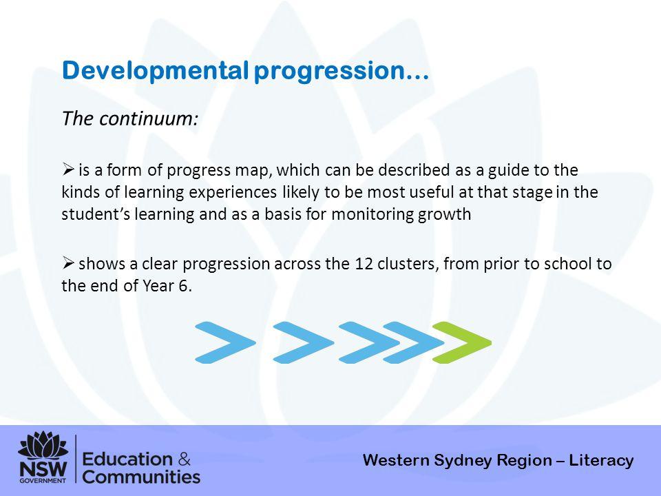 Developmental progression…