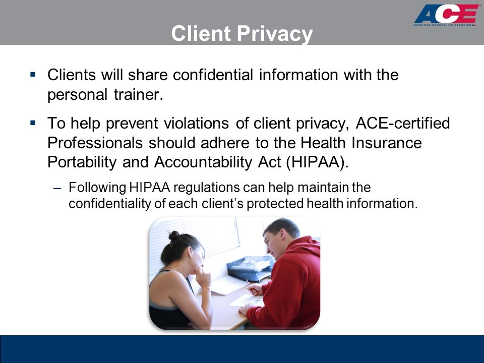 hipaa confidential client relationships Clinical practice and information sharing: hipaa  obligation to the client with regard to privacy of the confidential relationship necessary for.