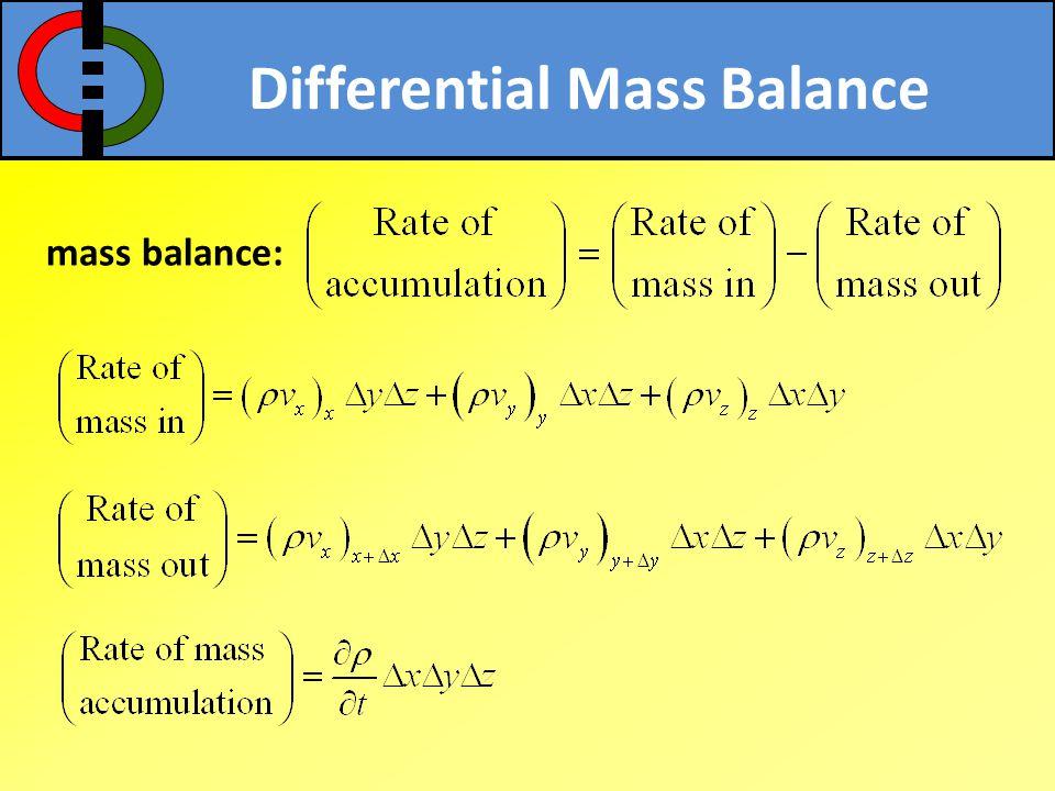how to write mass balance equation