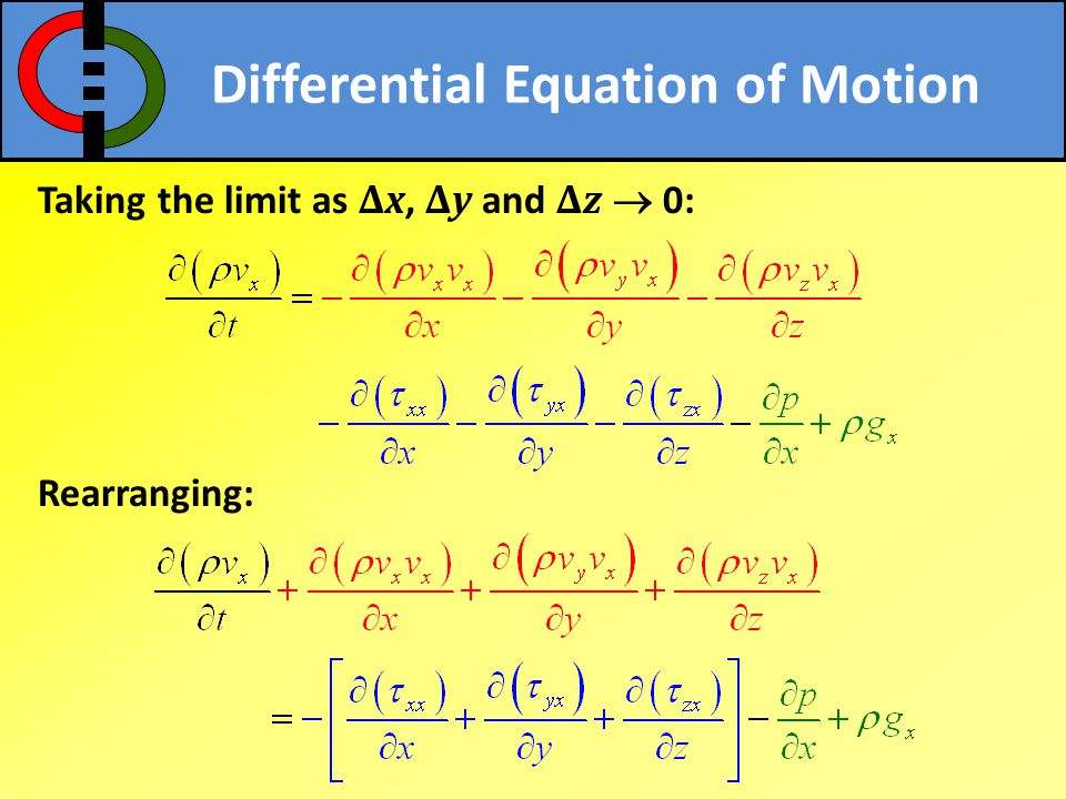 Differential Equation of Motion