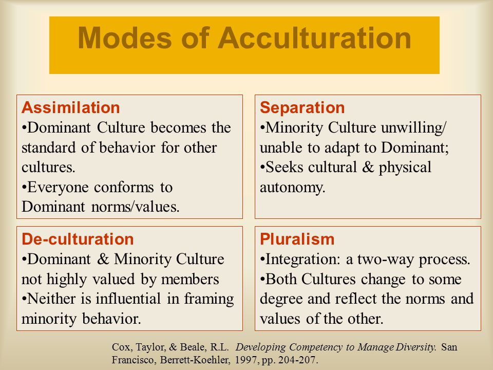 Modes of Acculturation