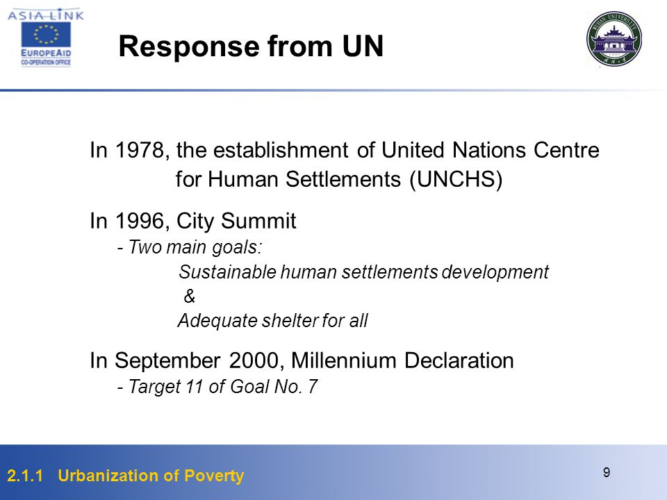 Response from UN In 1978, the establishment of United Nations Centre