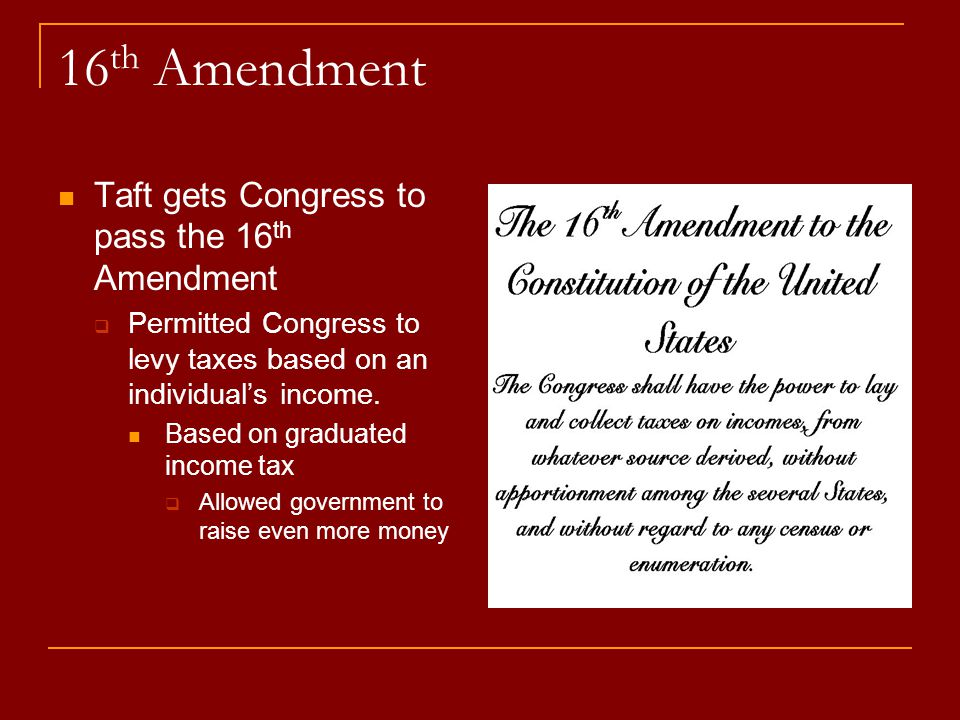 Sixteenth Amendment