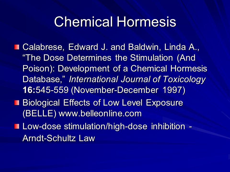 Chemical Hormesis