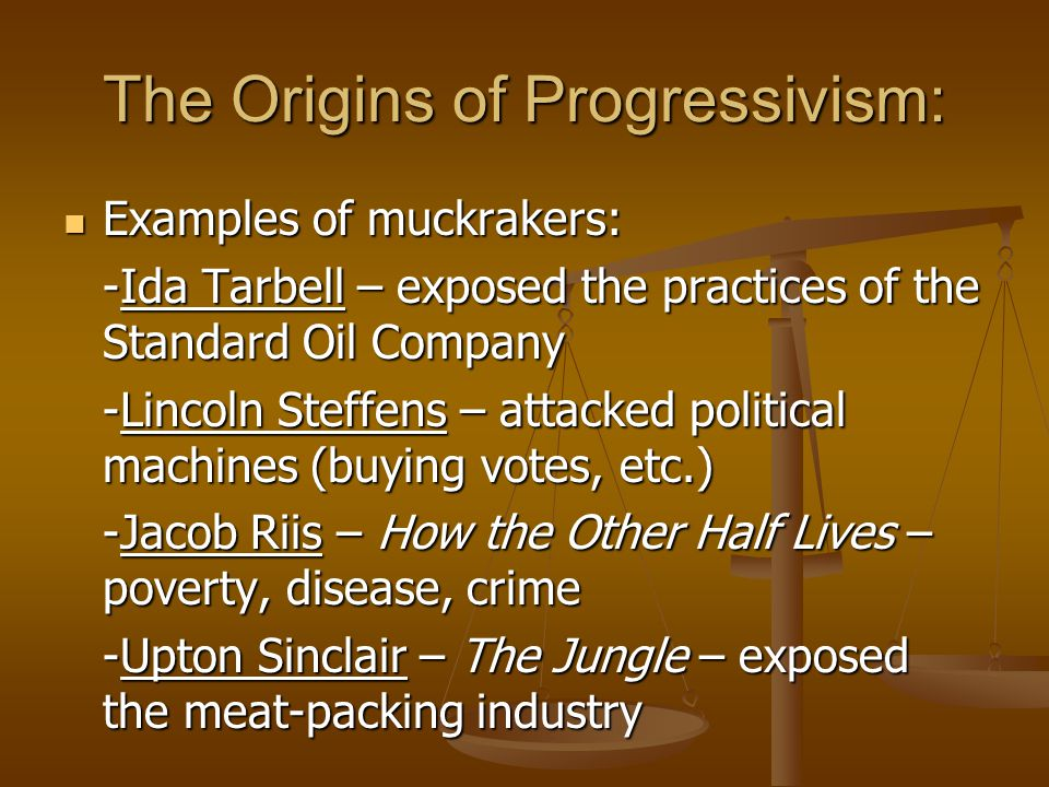 examples of progressivism The past progressive indicates a limited duration of time and is thus a convenient way to indicate that something took place (in the simple past).