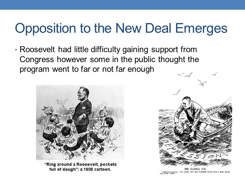 Opposition to new deal essay