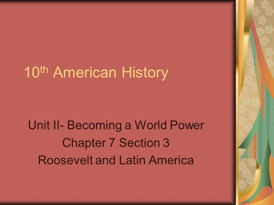 america becomes a world power Ssush14 the student will explain america's evolving relationship with the world at the turn of the twentieth century b describe the spanish-american war, the war in.