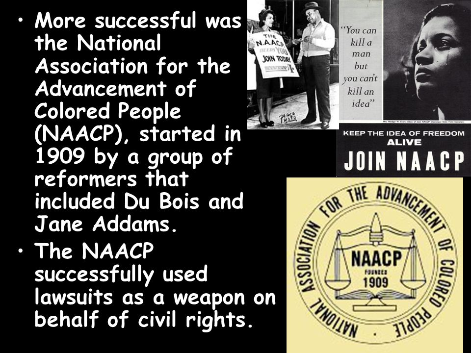 an overview of the national association for the advancement of colored people naacp and its hopes in The national association for the advancement of colored people (naacp) is the oldest and most recognized civil rights organization in the united states.
