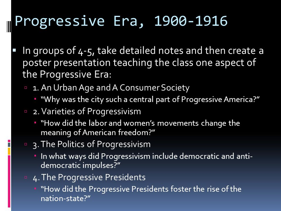 progressive movement dbq