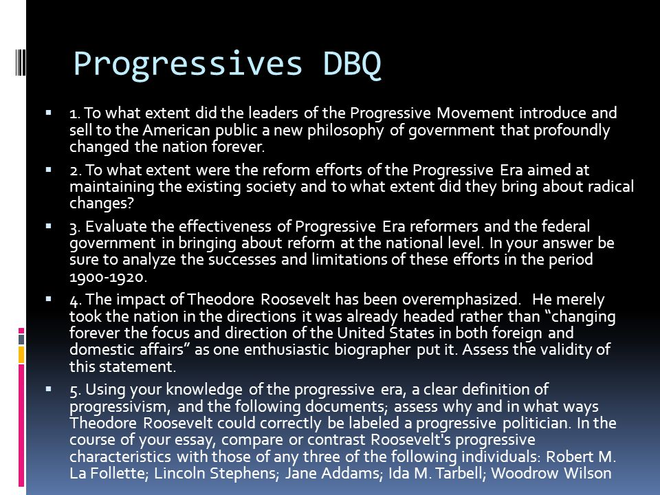 weber apush progressives ppt  progressives dbq