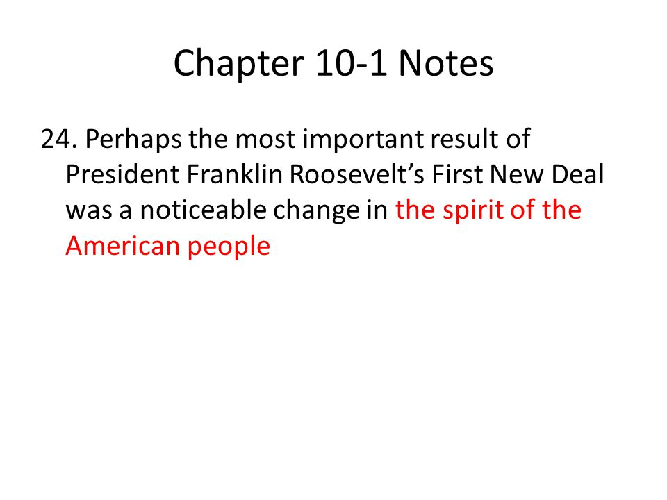Chapter 10-1 Notes