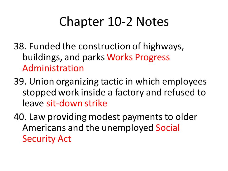 Chapter 10-2 Notes