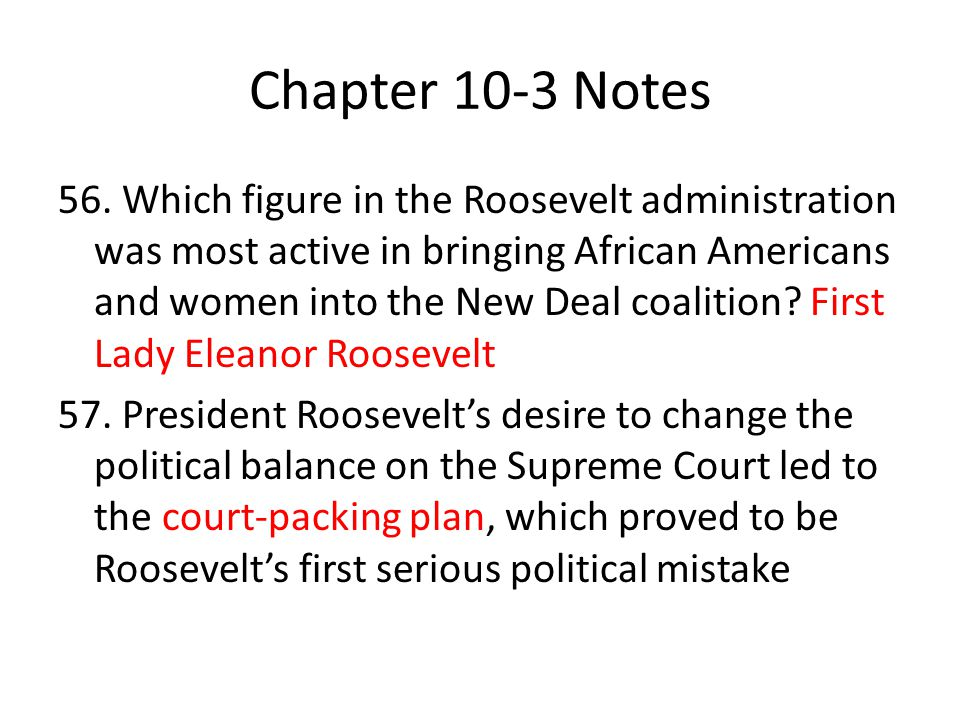 Chapter 10-3 Notes