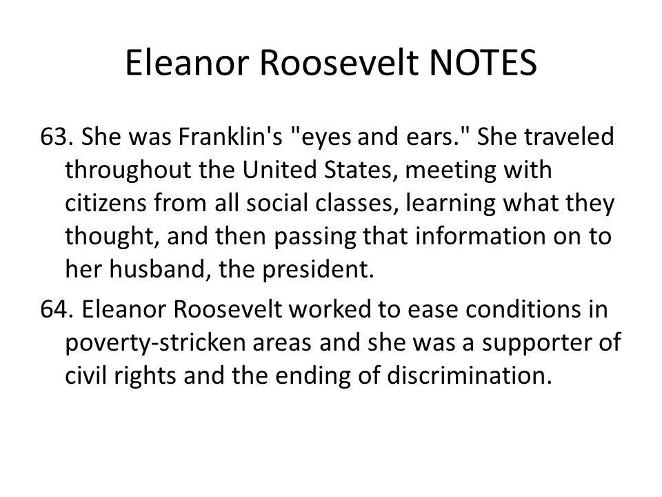 Eleanor Roosevelt NOTES