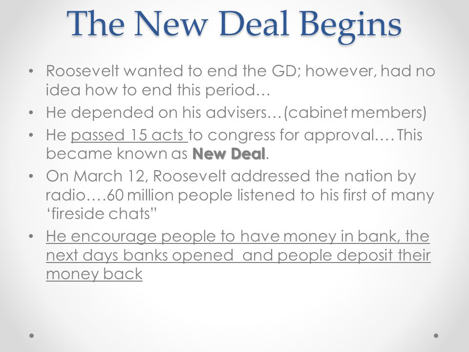 how roosevelt and his new deal
