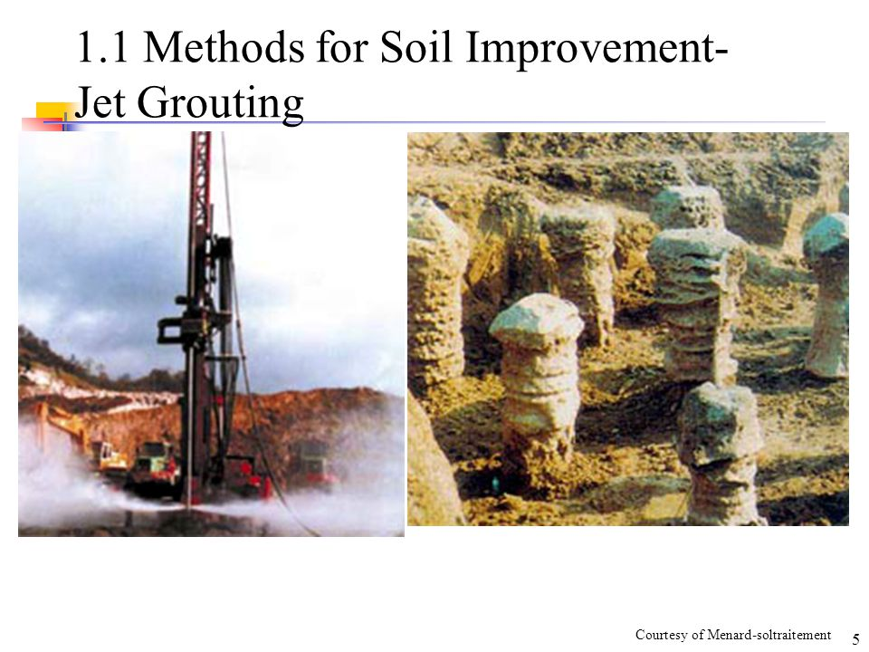 V compaction courtesy of u s wick drain inc ppt for Soil grouting
