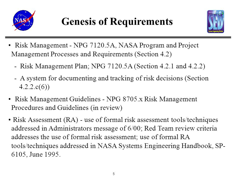 risk management at nasa Risk management at nasa and its applicability to the oil & gas industry pra information day for industry march 1, 2018 david kaplan nasa/johnson space center davidikaplan@nasagov.