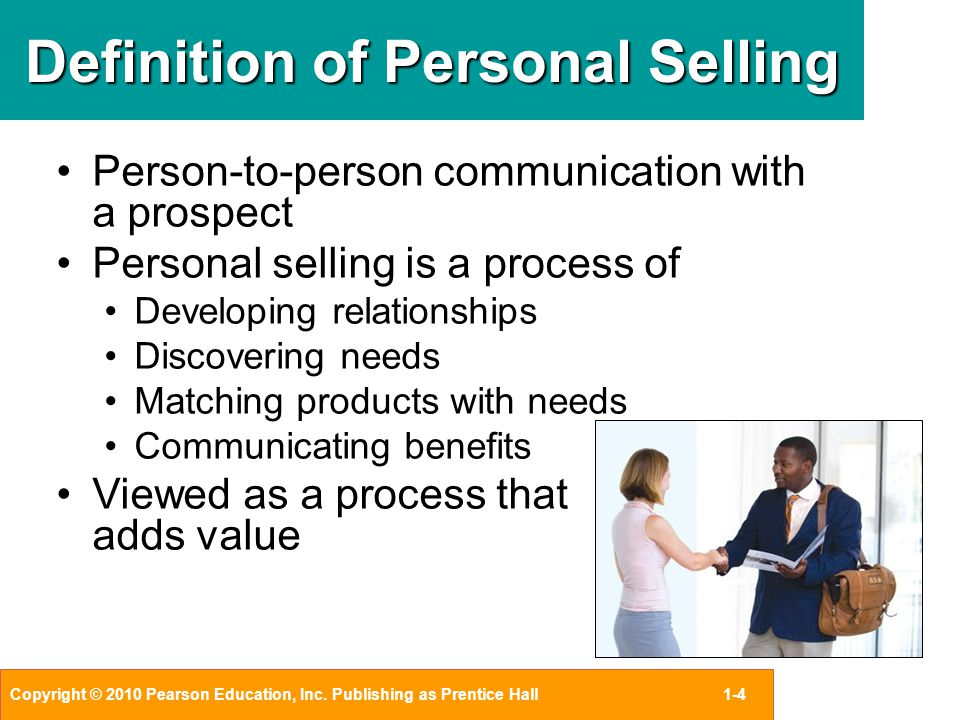analyzing the meaning of personal selling through interpersonal communication What is the meaning of interpersonal relationship you need to go through him to get your items at the store  interpersonal communication & human relationships 2.