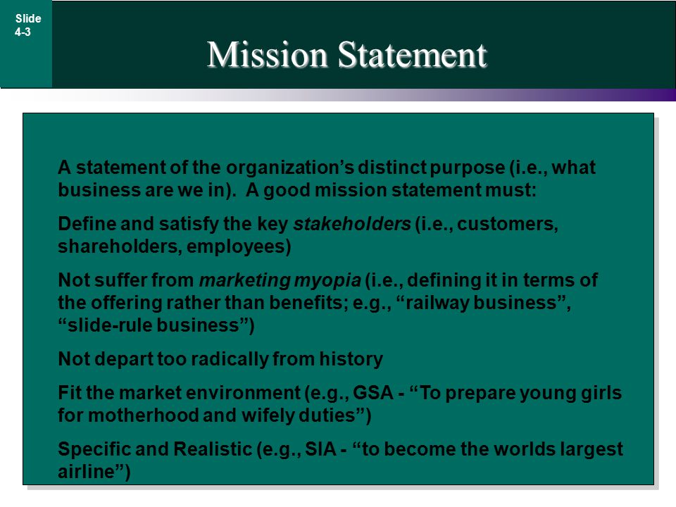 Mission Statement Iroshfo