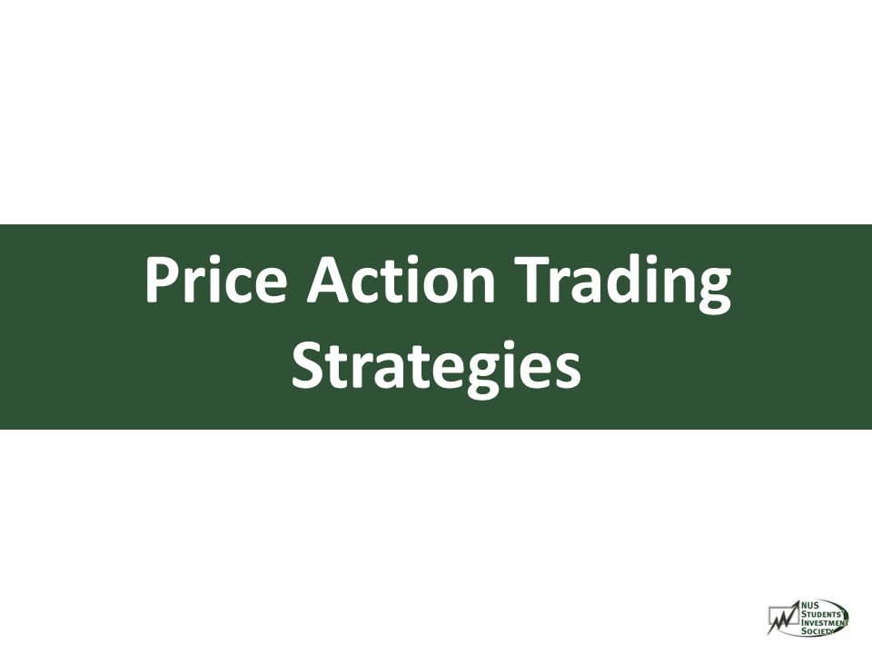 Trading strategies price action