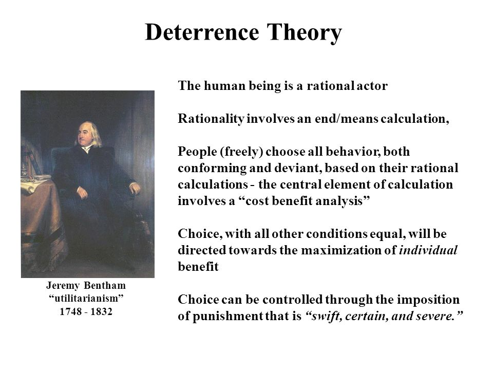 an analysis of the theory of deterrence based on realism International relations good theory should be able to explain phenomena at a particular level of analysis better theory realism and neorealism realism is.