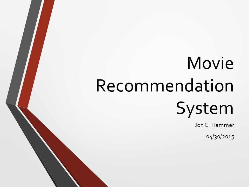 It Recommendation: Movie Recommendation System