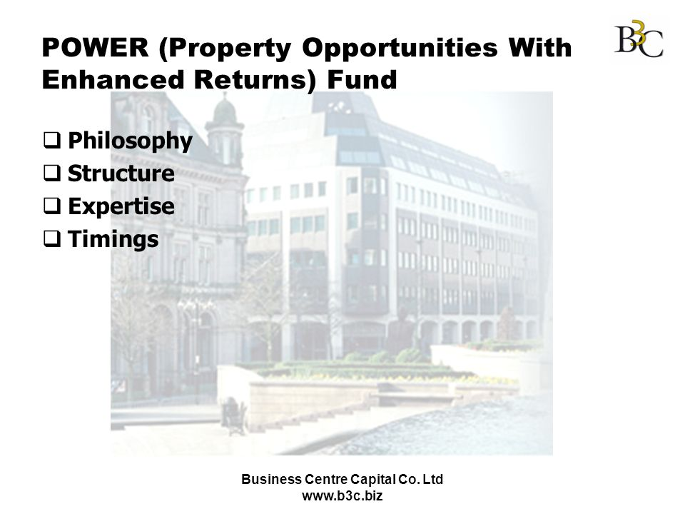 POWER (Property Opportunities With Enhanced Returns) Fund