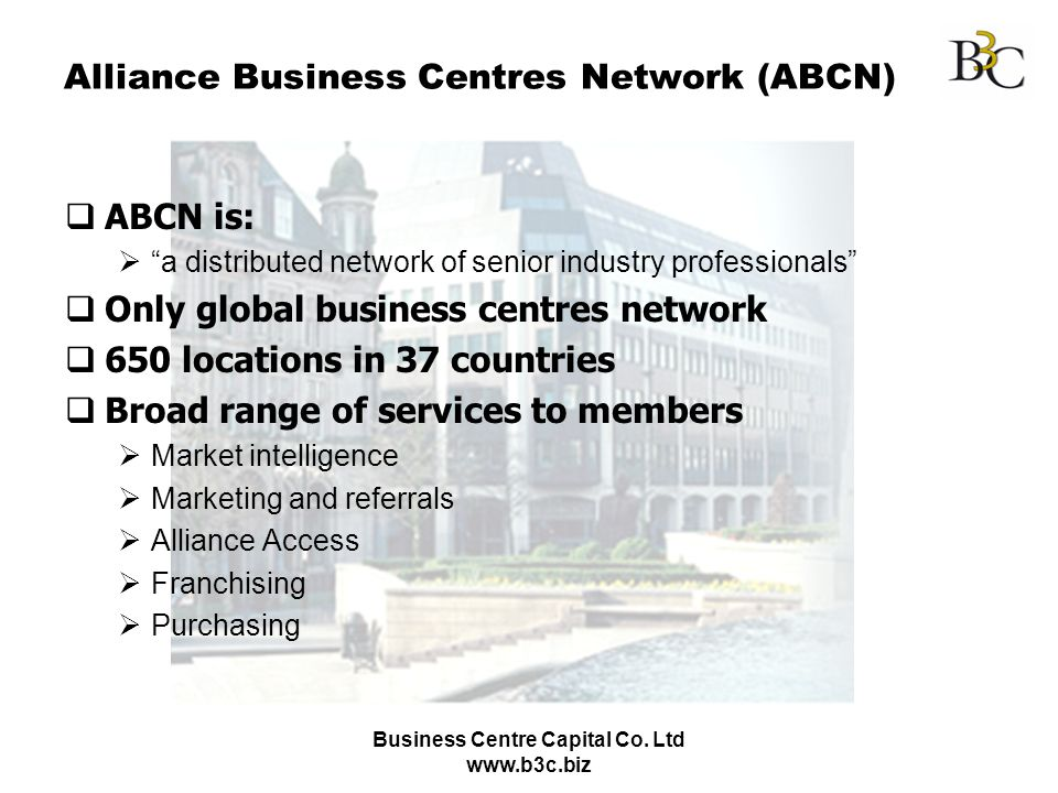 Alliance Business Centres Network (ABCN)