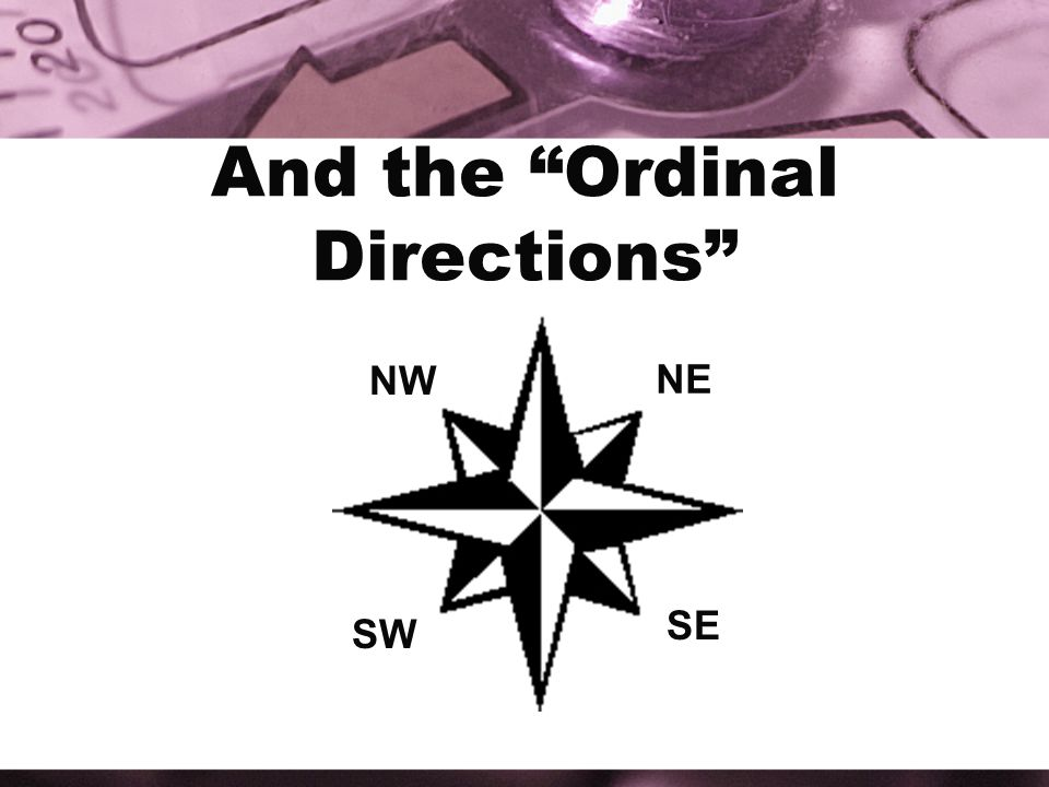 And the Ordinal Directions