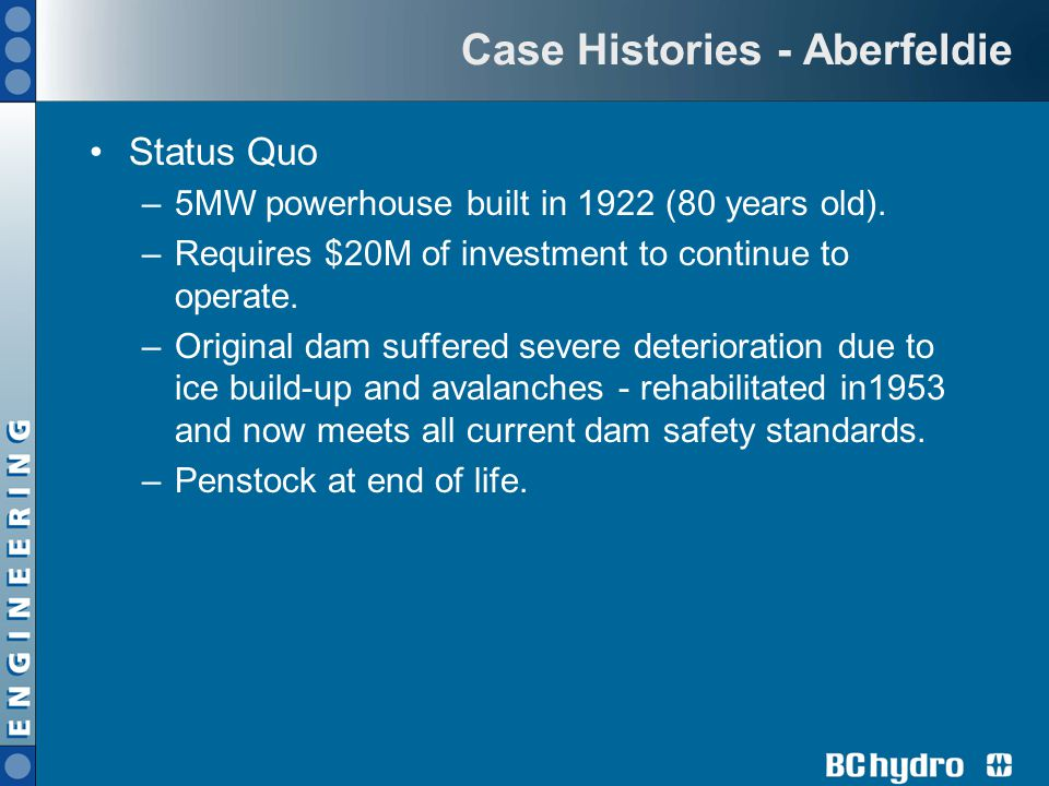 Case Histories - Aberfeldie