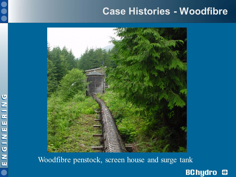 Case Histories - Woodfibre