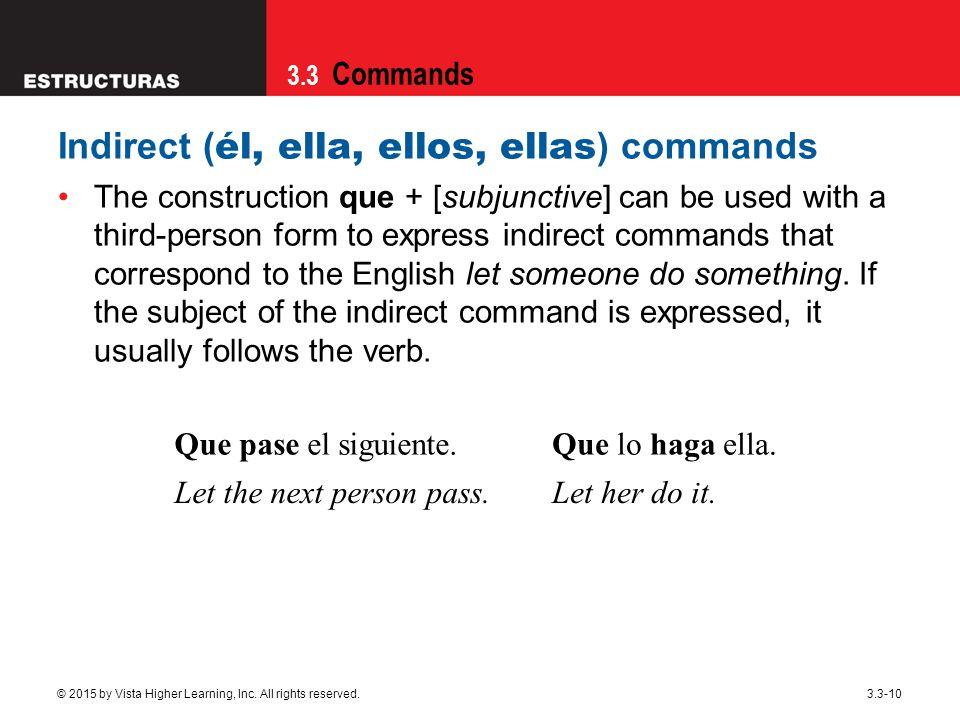 Indirect (él, ella, ellos, ellas) commands