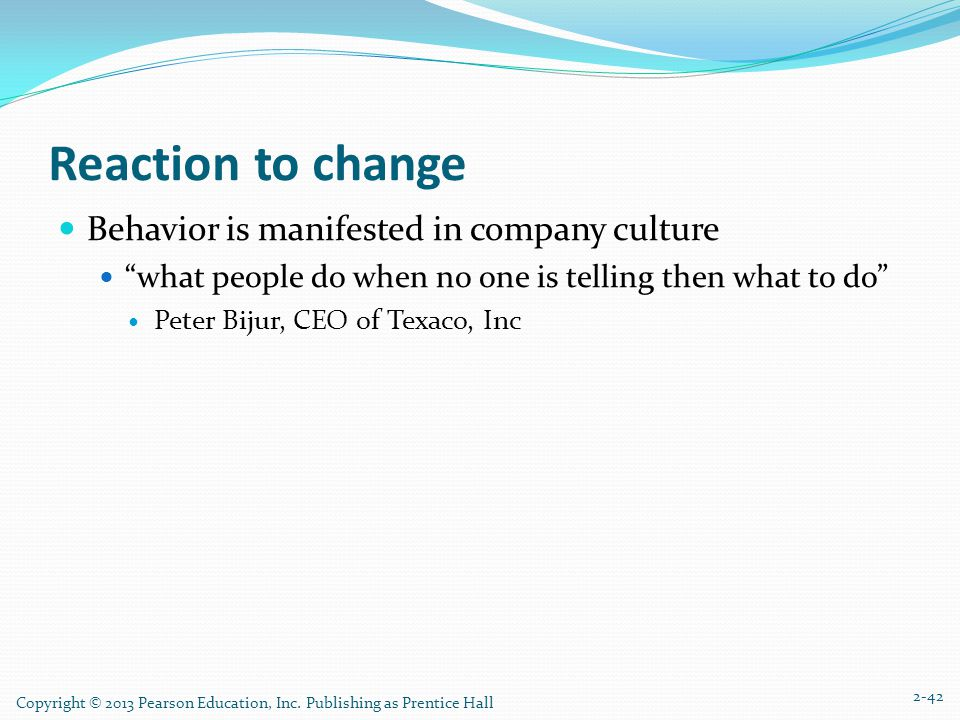 culture change at texaco Case questions 1 identify the ethical culture problem at texaco in the mid-1990s 2 based on the facts in the case and what you have learned in this chapter, evaluate the culture change effort that is under way.