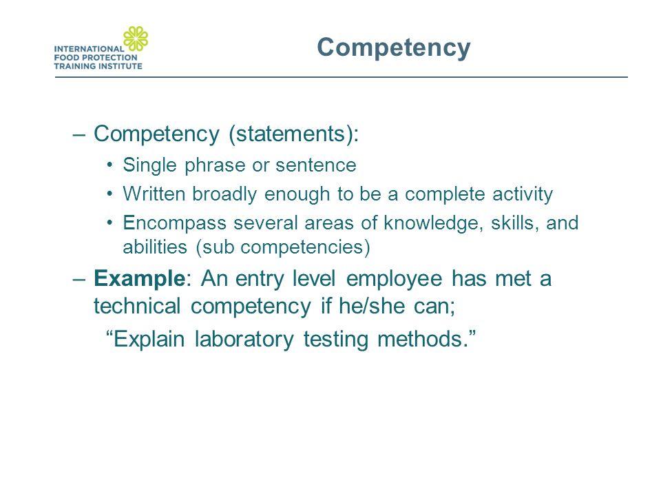 cda competency statement 2