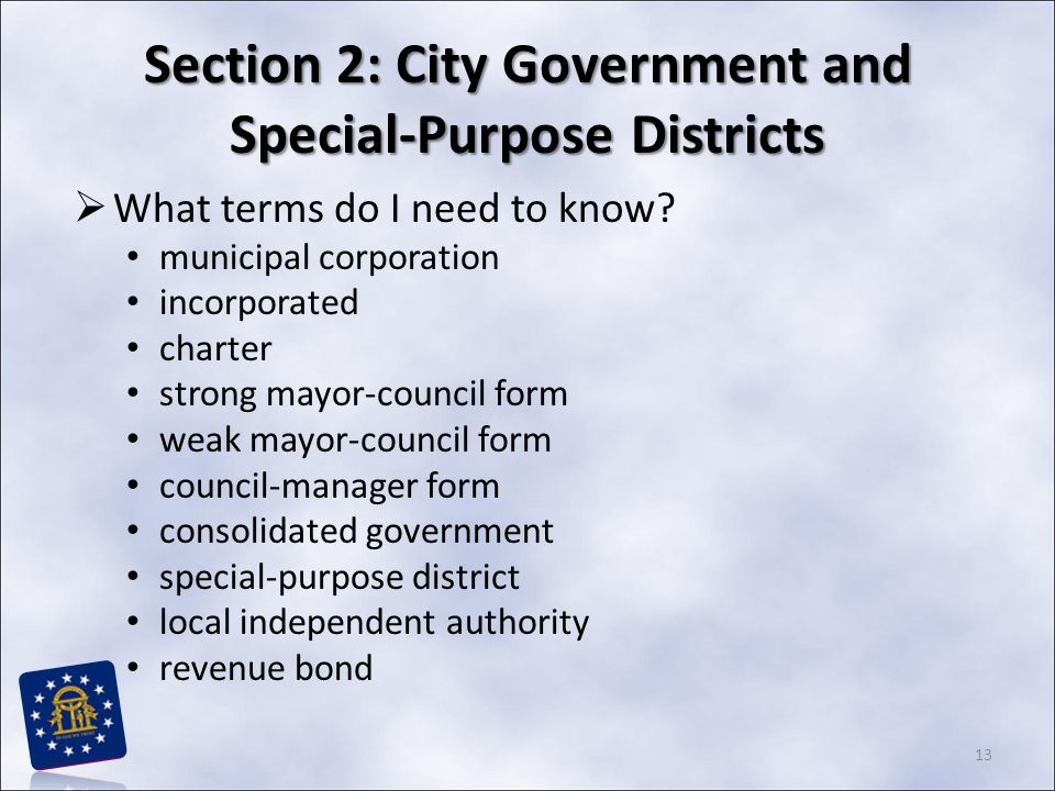 Chapter 7: Local Government in Georgia STUDY PRESENTATION - ppt ...