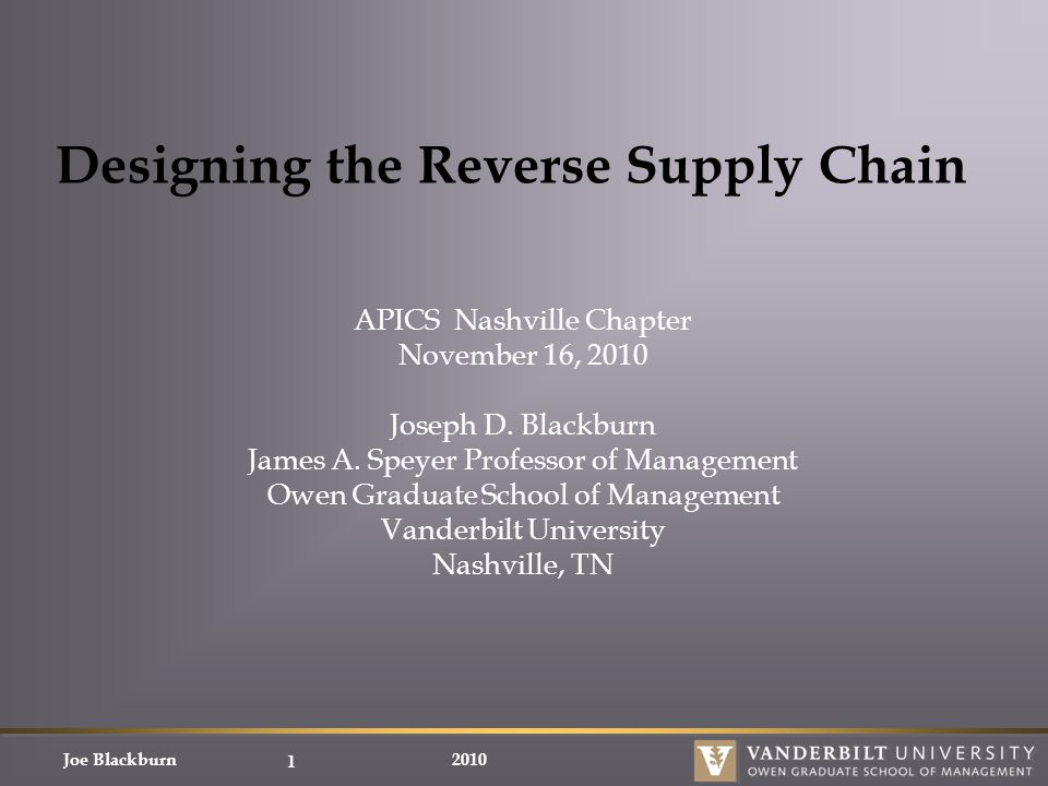 reverse supply chain management pdf