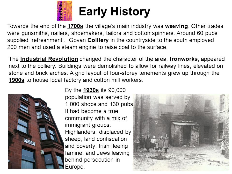 Early History Gorbals.