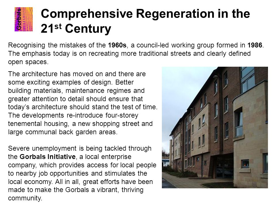 Comprehensive Regeneration in the 21st Century