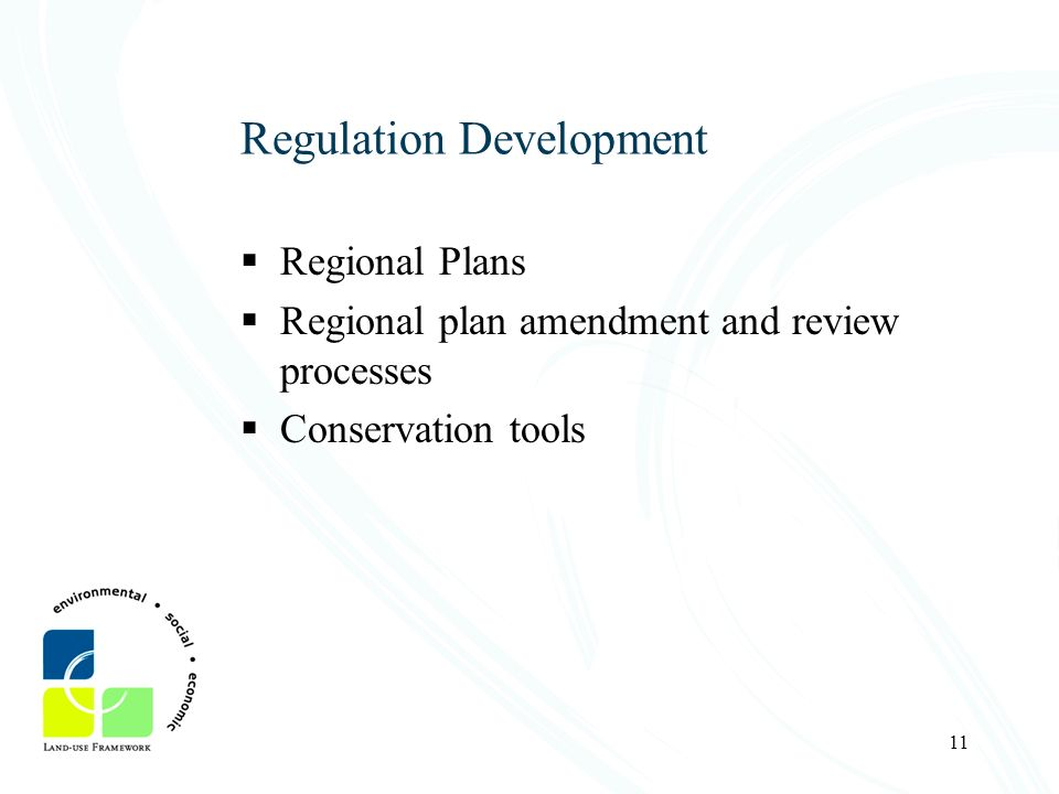 Regulation Development