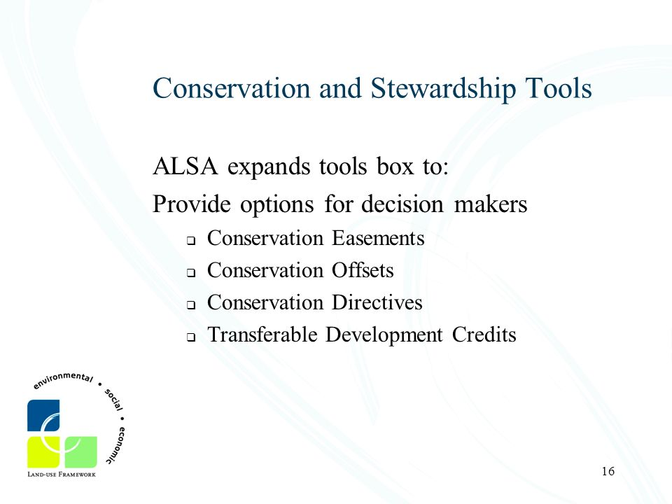 Conservation and Stewardship Tools