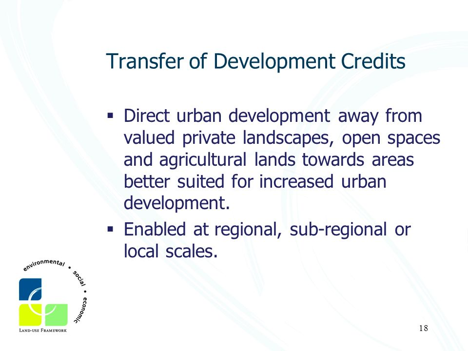 Transfer of Development Credits