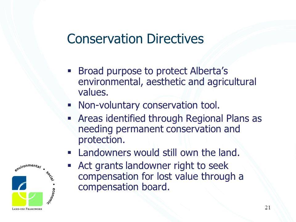Conservation Directives