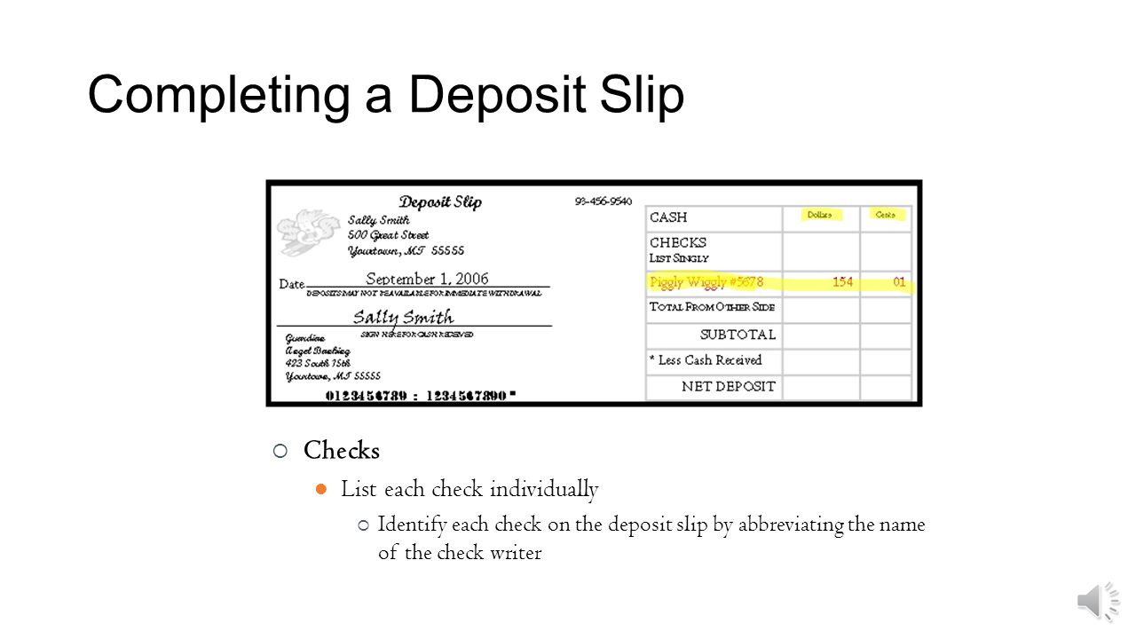Learn How To Write A Deposit Slip Properly