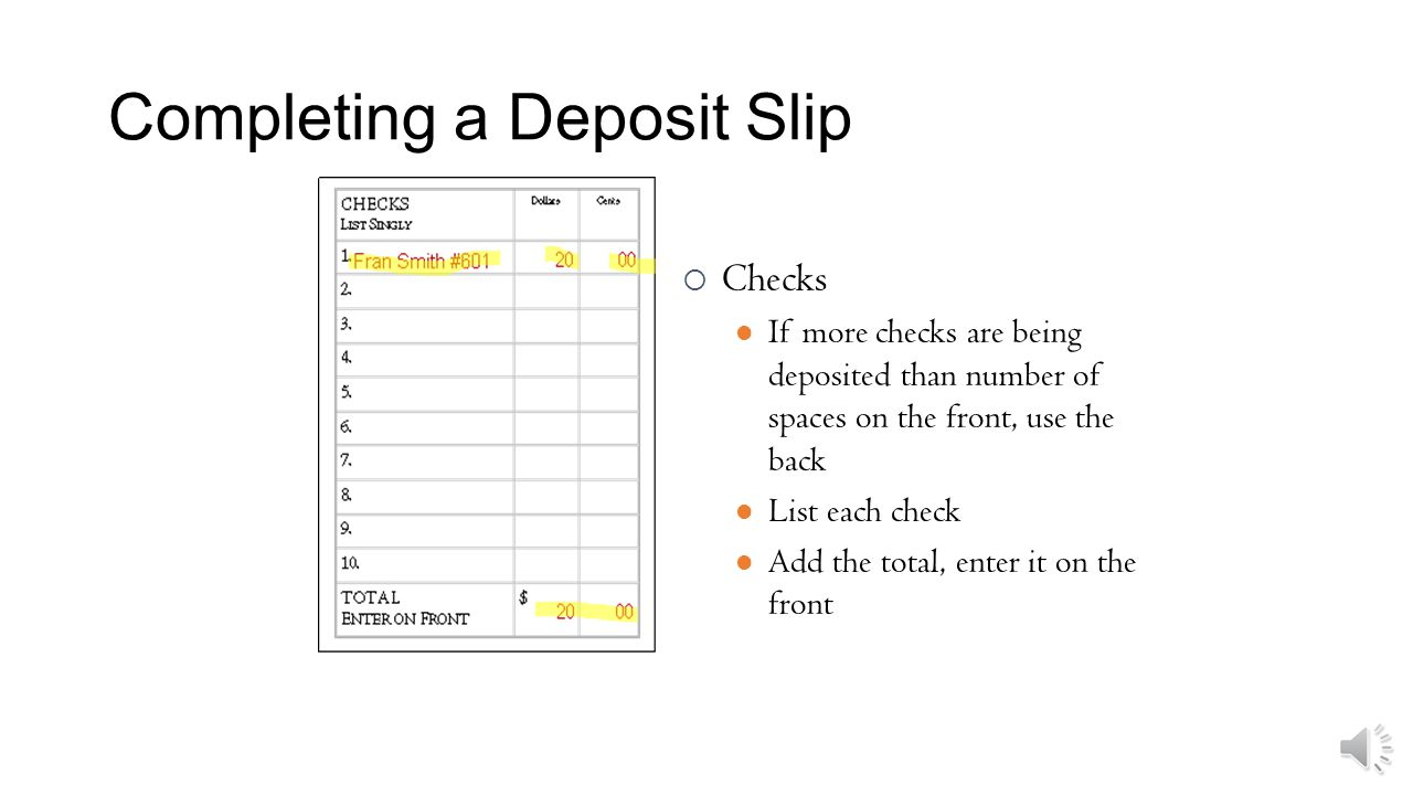 How to deposit a check in the bank